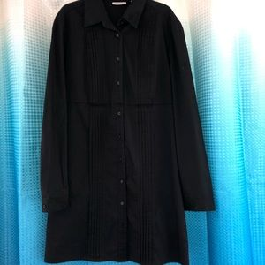 Black button up long sleeve dress size L
